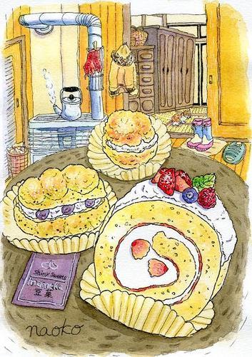 豆菓(まめか)のケーキ
